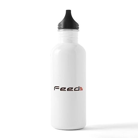 Orange RSS Feed Stainless Water Bottle 1.0L