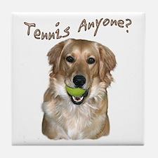 Golden Retriever Tennis Tile Coaster