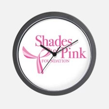 Shades of Pink Foundation Wall Clock