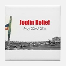 Cute Joplin tornado Tile Coaster