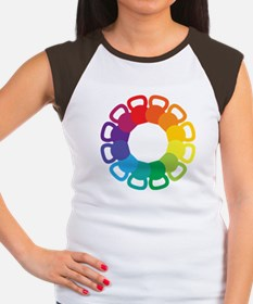 Kettlebell Color Wheel Women's Cap Sleeve T-Shirt