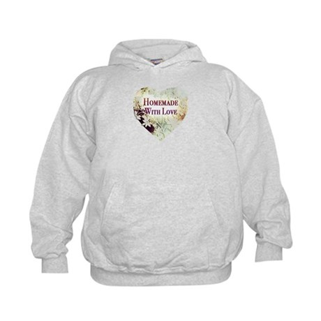 Homemade With Love heart Kids Hoodie
