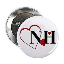 "Love NH New Hampshire Hearts 2.25"" Button"