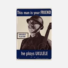 Your Ukulele Friend Rectangle Magnet