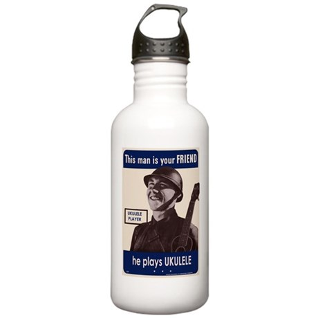 Your Ukulele Friend Stainless Water Bottle 1.0L