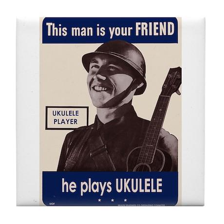 Your Ukulele Friend Tile Coaster