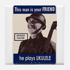 Your Ukulele Friend Tile Coaster