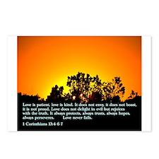1 Corinthians 13:4 6-7 Postcards (Package of 8)