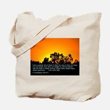 1 Corinthians 13:4 6-7 Tote Bag