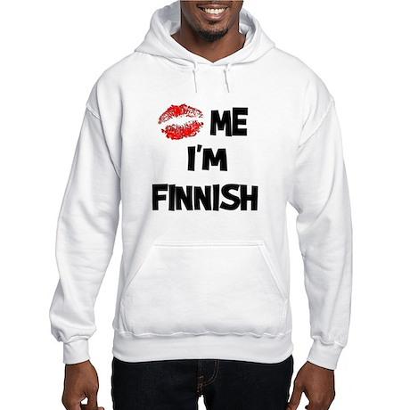Kiss Me I'm Finnish Hooded Sweatshirt