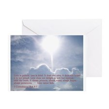 1 Corinthians 13:4 6-7 Greeting Card