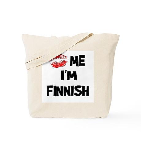 Kiss Me I'm Finnish Tote Bag