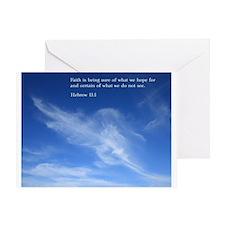 Hebrew 11:1 Greeting Card
