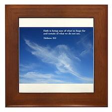 Hebrew 11:1 Framed Tile