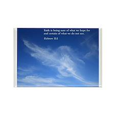 Hebrew 11:1 Rectangle Magnet