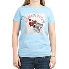 (My Soldier...) Proud Army Wife Women's Pink T-Shi