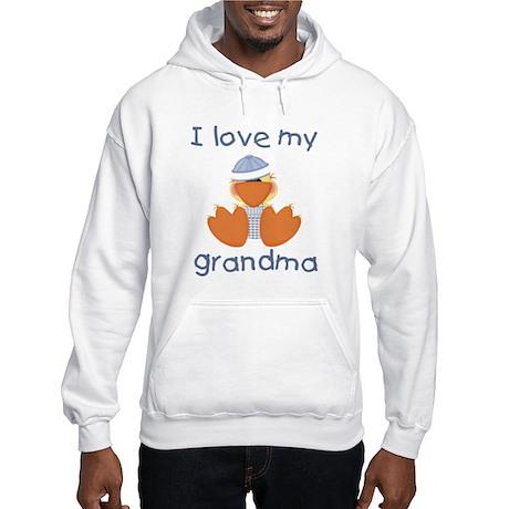 I love my grandma (baby boy ducky) Hooded Sweatshi