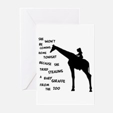 Giraffenapping Greeting Cards (Pk of 10)