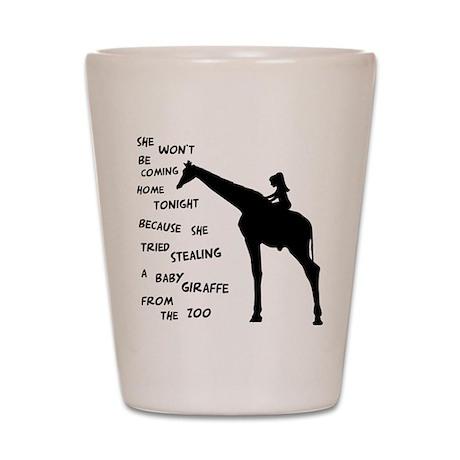 Giraffenapping Shot Glass