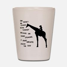 Giraffenapping Shot Glass