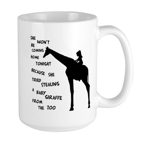 Giraffenapping Large Mug