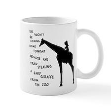 Giraffenapping Small Mug