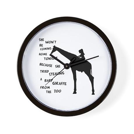 Giraffenapping Wall Clock