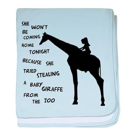 Giraffenapping baby blanket