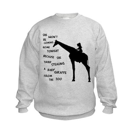 Giraffenapping Kids Sweatshirt