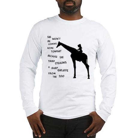Giraffenapping Long Sleeve T-Shirt