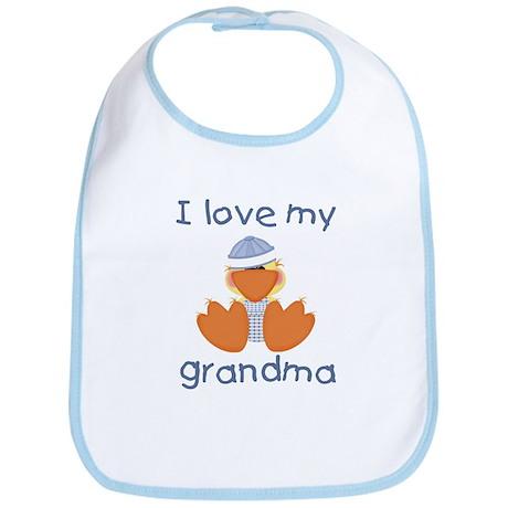 I love my grandma (baby boy ducky) Bib by tjcreations