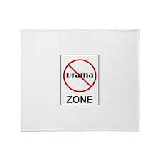 No Drama Zone Throw Blanket