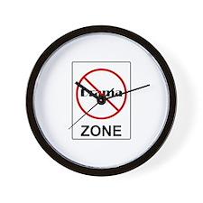 No Drama Zone Wall Clock