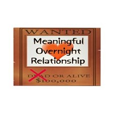 Meaningful Overnight Relationship Rectangle Magnet