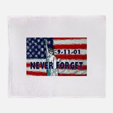 9-11-01 Never Forget Throw Blanket