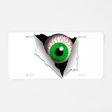 Eyeball Aluminum License Plate