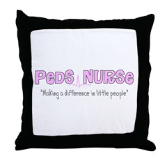 Pediatrics/PICU Nurse IV Throw Pillow