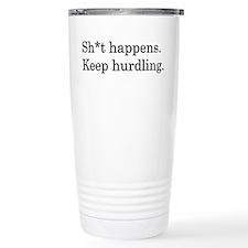 Keep Hurdling Travel Mug