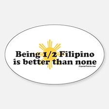 Half Filipino Sticker (Oval)