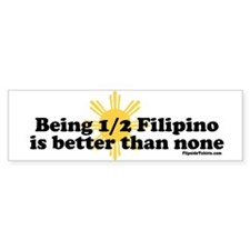 Half Filipino Car Sticker