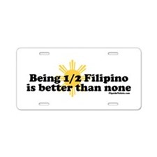 Half Filipino Aluminum License Plate