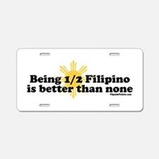 Half Filipino Aluminum License Plate