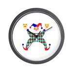 Jester Clown Wall Clock