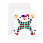Jester Clown Greeting Cards (Pk of 10)