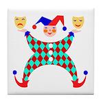 Jester Clown Tile Coaster