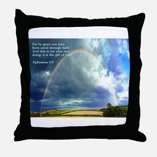 Ephesians 2:8 Throw Pillow