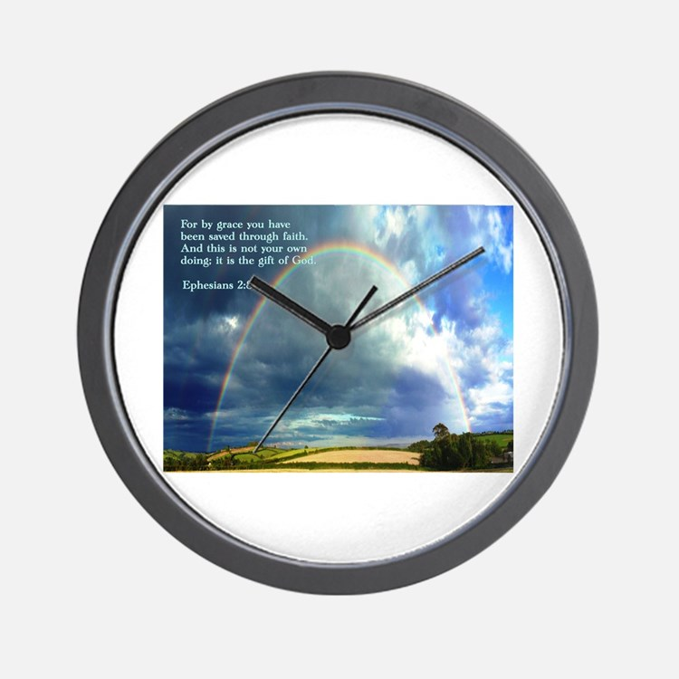 Ephesians 2:8 Wall Clock