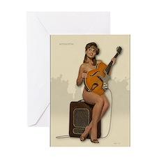 Funny Vintage guitar Greeting Card
