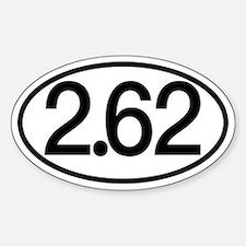 2.62 Marathon Humor Decal