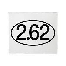 2.62 Marathon Humor Throw Blanket